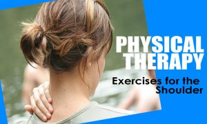 woman doing physical therapy shoulder exercise