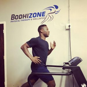 Silver Medalist Daryl Homer physical therapy at Bodhizone Grand central