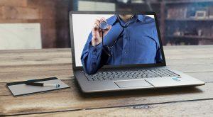 Bodhizone: Doctor on a laptop